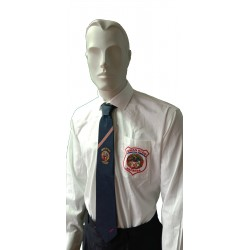 Shirt Official of competition Men Qwan ki do White AXMSports - AX0024