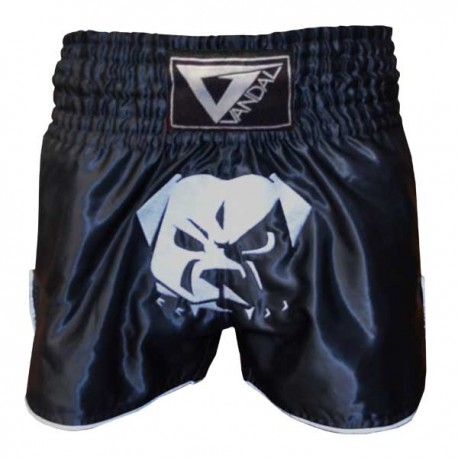 Pantaloncino Muay Thai in satin Bulldog New Edition Black Vandal - 15503034N