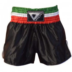 Pantaloncino Muay Thai in satin Italian Flag Black Vandal - 15503038N