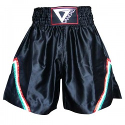 Pantaloncino Muay Thai in satin K1 Black Vandal - 15503040