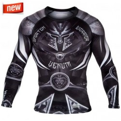 Maglietta Rash Guard Compression Gladiator Black Venum - EU-VENUM-02986-108