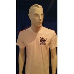Tshirt Qwan ki do made in cotton Model 5 White AXMSports - AX0037