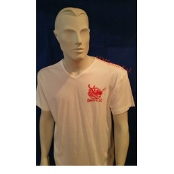 Tshirt Qwan ki do made in cotton Model 6 White AXMSports - AX0038