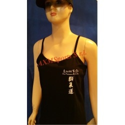 Tshirt Top Female Qwan ki do Black AXMSports - AX0065