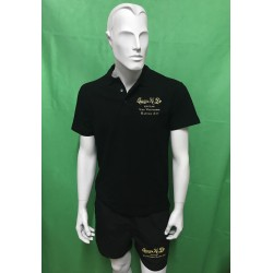 Combo Polo Official and Swimsuit Qwan ki do Black AXMSports - AX0216