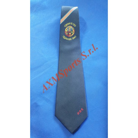 Necktie with Official Logo Qwan ki do AXMSports - AX0020