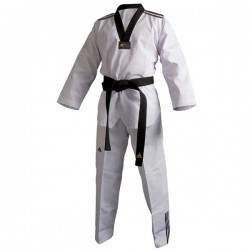 Uniforme Taekwondo Modello Adi-Club 3III collo nero White Adidas - 10352028